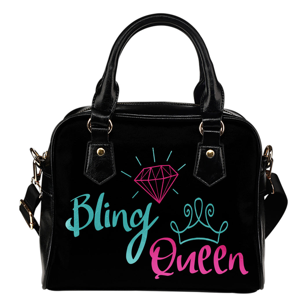 Bling Queen Purse Mint and Pink Design
