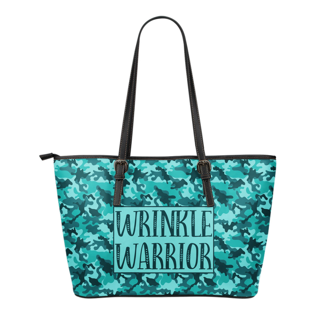 Teal Blue Camo Wrinkle Warrior Tote Bag R+F Consultant Swag