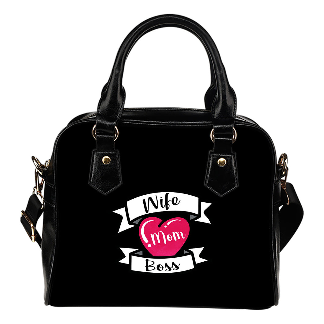 Wife Mom Boss Handbag Purse