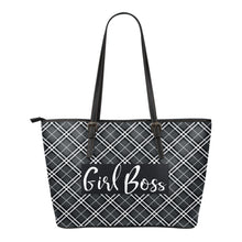 Girl Boss Plaid Tote Bags