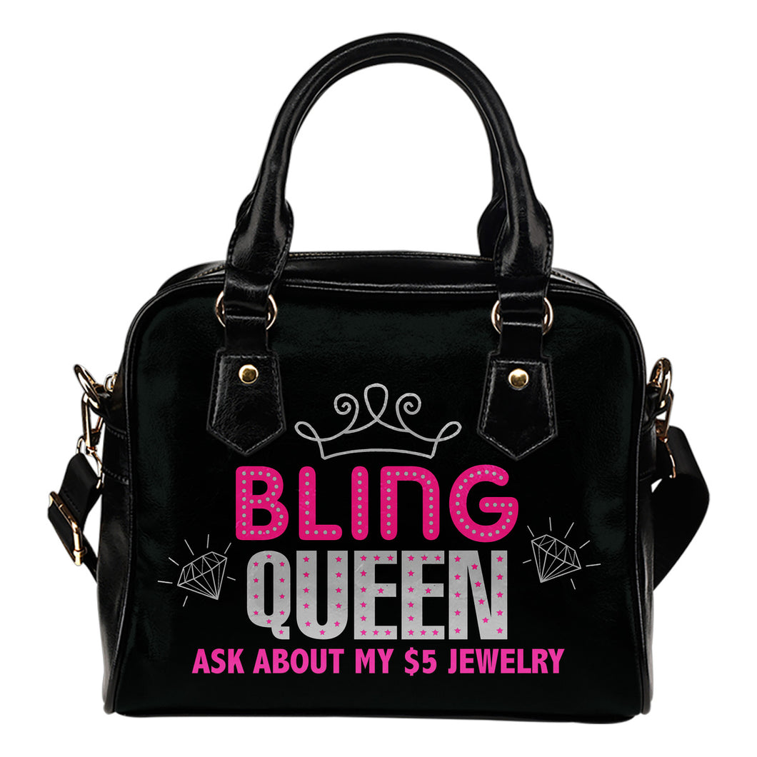 Ask About My $5 Jewelry Bling Queen Purse Handbag Bling Bag
