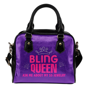 Bling Queen Purple Handbag