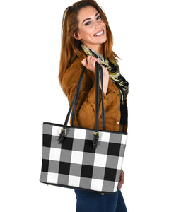 Large Buffalo Plaid Pattern Tote Bags