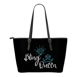 Bling Queen Tote Bag Teal Blue