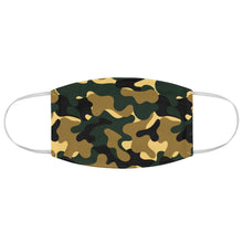 Load image into Gallery viewer, Green and Brown Camo Printed Cloth Fabric Face Mask Colorful Green, Yellow, Brown and Black Camouflage