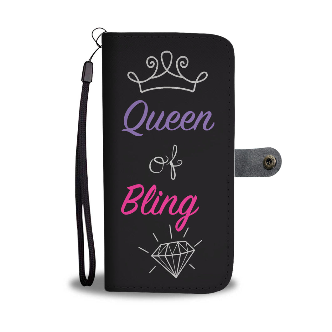 Queen of Bling Wallet Phone Case