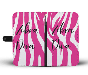 Zebra Diva Wallet Phone Case