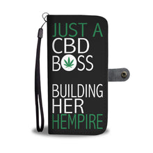 Just A CBD Boss Building Her Hempire Wallet Phone Case