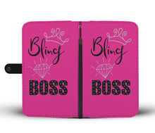 Bling Boss Wallet Phone Case Pink