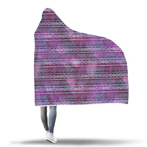 Watercolor Iridescent Boho Style Ethnic Pattern Blanket Purple