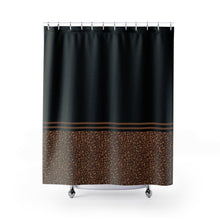 Load image into Gallery viewer, Leopard Skin Print Contrast Pattern Design Shower Curtain Black and Brown