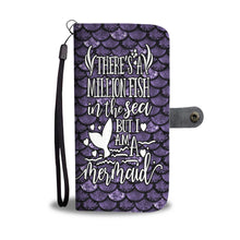I Am A Mermaid Wallet Phone Case Purple
