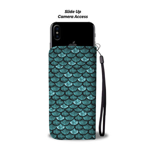 Gorgeous Aqua Mermaid Wallet Phone Case