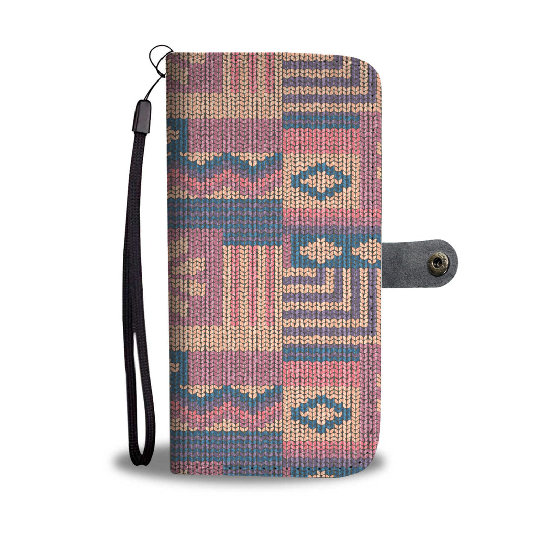 Knit Pattern Design Phone Wallet Case