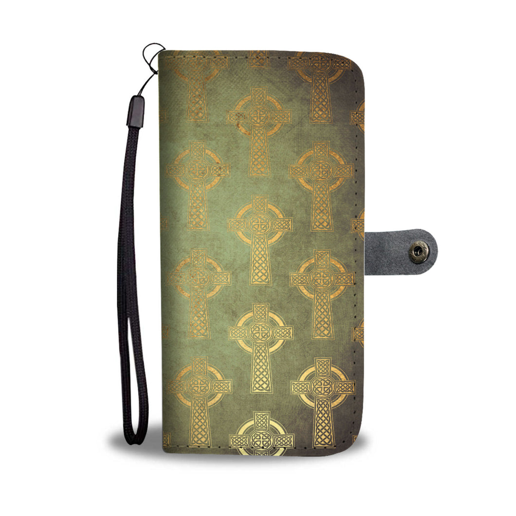 Celtic Cross Wallet Phone Case