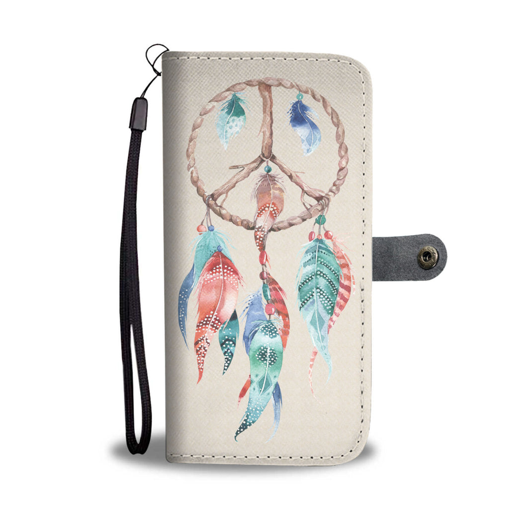 Dreamcatcher Phone Wallet Case In Tan