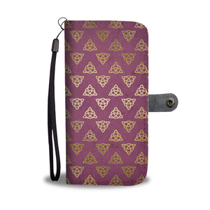 Celtic Triquerta Knot Design Wallet Phone Case