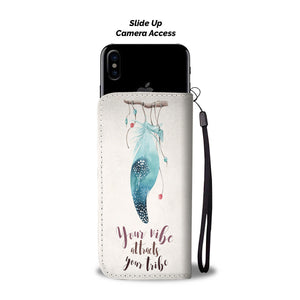 Your Vibe Attracts Your Tribe Wallet Phone Case