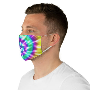 Fabric Face Mask Tie Dye Bright Colored Rainbow Printed Cloth