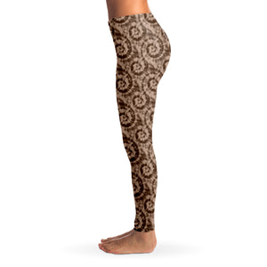 Brown Tie Dye Leggings XS - XL Squat Proof