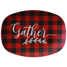Load image into Gallery viewer, Gather Red Buffalo Plaid Serving Platter ThermoSāf® Polymer BPA FREE