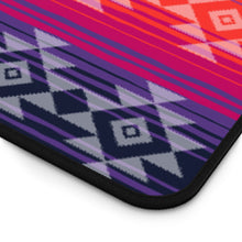 Load image into Gallery viewer, Serape Style Pink and Purple Desk Mat With Tribal Design Overlay Large