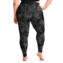 Load image into Gallery viewer, Spiderweb Leggings Black and White Plus Size 2X - 6X Squat Proof