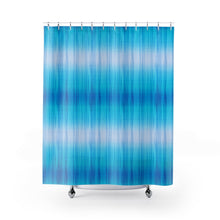 Load image into Gallery viewer, Blue Tie Dye Style Shower Curtain