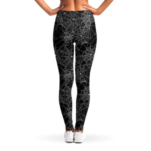 Spiderweb Leggings Black and White Squat Proof