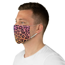 Load image into Gallery viewer, Rainbow Leopard Fabric Face Mask Printed Cloth Animal Print Bright Colors