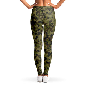 Camouflage Leggings Sizes XS - XL Traditional Colors Brown, Green, Black Pattern