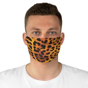 Leopard Print Fabric Fashion Face Mask Animal Print Cheetah Safari Jungle Pattern