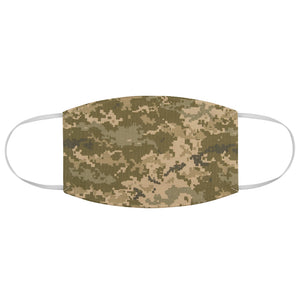 Digital Camo Printed Cloth Fabric Face Mask Brown, Green and Tan Camouflage Army Military