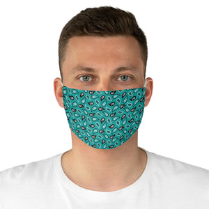 Turquoise Paisley Bandana Pattern Print Cloth Fabric Face Mask