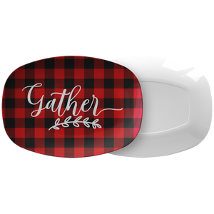 Gather Red Buffalo Plaid Serving Platter ThermoSāf® Polymer BPA FREE