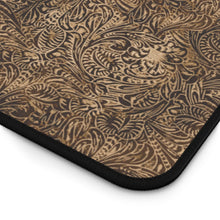 Load image into Gallery viewer, Dusky Brown Tooled Leather Style Pattern Desk Mat
