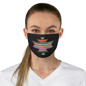 Serape Aztec Element With Colorful Stripes Pattern Printed Fabric Face Mask Southwestern Ethnic
