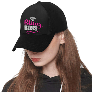 Bling Boss Hat Black Baseball Cap Paparazzi Consultant Swag
