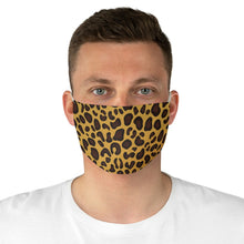 Load image into Gallery viewer, Cheetah Print Fabric Fashion Face Mask Animal Print Safari Jungle Pattern Yellow, Brown and Black