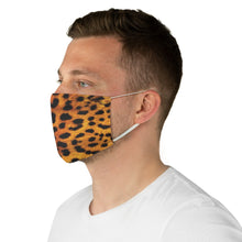 Load image into Gallery viewer, Leopard Print Fabric Fashion Face Mask Animal Print Cheetah Safari Jungle Pattern