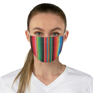 Mexican Serape Colorful Pattern Printed Fabric Face Mask