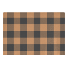 Load image into Gallery viewer, Pumpkin Spice and Black Buffalo Plaid Tempered Glass Cutting Board Farmhouse Fall Decor