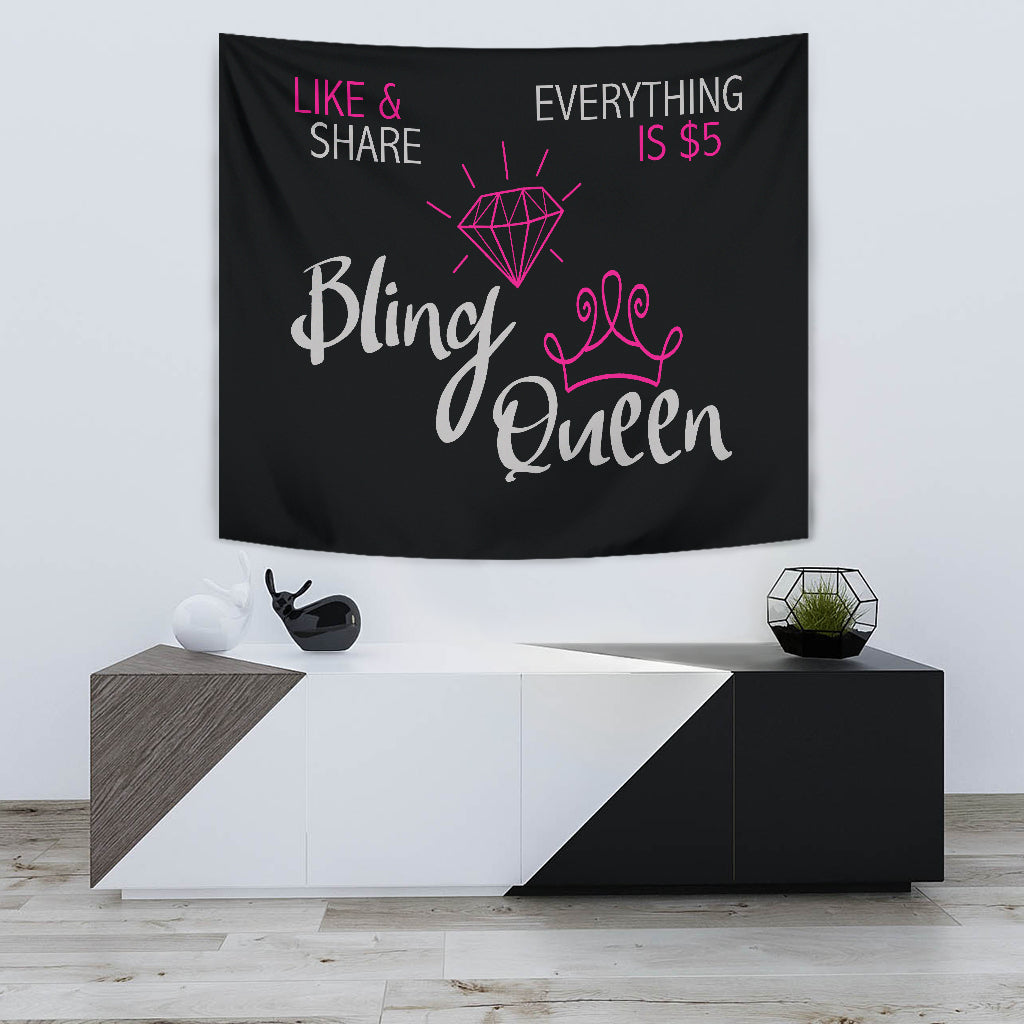 Bling Queen Live Video Backdrop Banner
