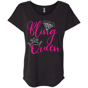 Bling Queen Dolman Tee Shirt Sizes To 3XL