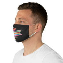 Load image into Gallery viewer, Serape Aztec Element With Colorful Stripes Pattern Printed Fabric Face Mask Southwestern Ethnic