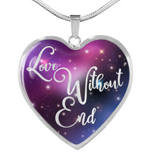 Load image into Gallery viewer, Love Without End Pink Purple Blue Colorful Galaxy Heart Shaped Pendant Necklace