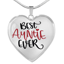 Load image into Gallery viewer, Best Auntie Ever Heart Shaped Pendant Necklace With Chain and Gift Box