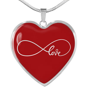 Infinity Love Heart Shaped Pendant Necklace