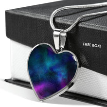 Load image into Gallery viewer, Colorful Galaxy Nebula Space Heart Shaped Pendant Necklace Gift Set