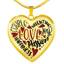 Load image into Gallery viewer, Valentine's Words Love Heart Pendant Necklace With Gift Box